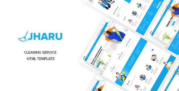 Jharu - Cleaning & Plumbing Service Responsive Template - Corporate Site Templates