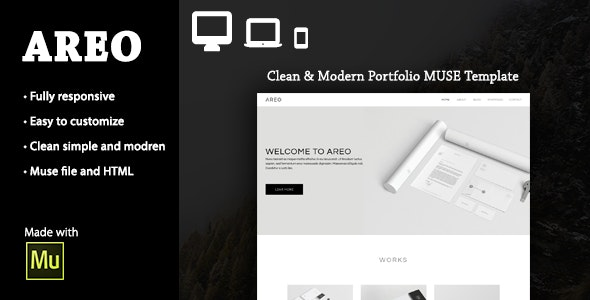 AREO- Responsive Multi-Purpose Muse Theme - Creative Muse Templates