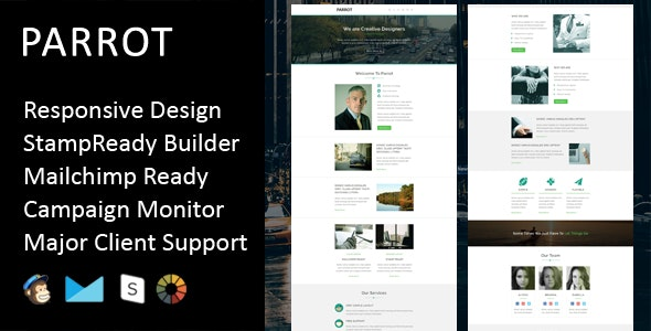 Parrot - Multipurpose Responsive Email Template + Stampready Builder - Email Templates Marketing