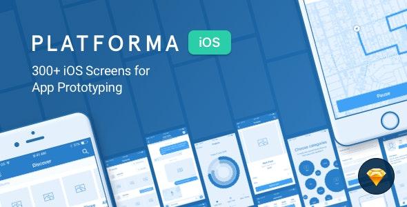Platforma for iOS: Wireframe Kit of 300+ iOS Screens - Creative Sketch