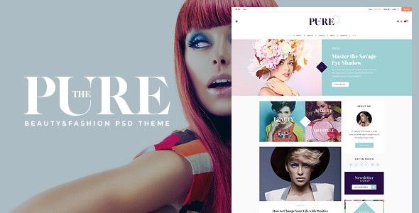 Pure - beauty/fashion blog and shop PSD theme  - Personal Photoshop