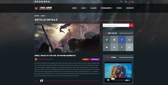 GoodGames — Clean Game Portal/Store PSD Template