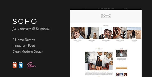 Soho   Blog Template For Travelers & Dreamers - Personal Site Templates