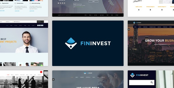 Finvest - Business, Consultancy, Finance & investment template - Business Corporate