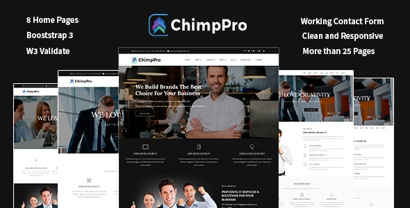 Chimp Pro Multipurpose Creative Business - Agency - Corporate Template - Business Corporate