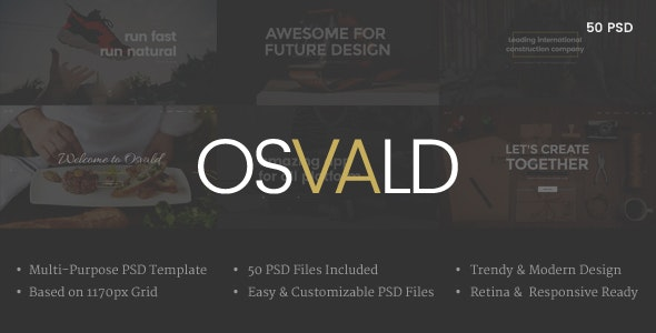 OSVALD - Multi-Purpose PSD Template  - Corporate Photoshop
