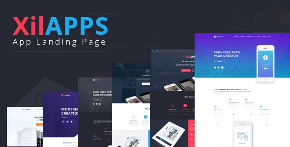XILAPPS - PSD App Landing Page Template - Technology Photoshop