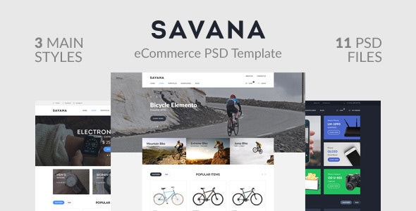 Savana — eCommerce PSD Template - Retail Photoshop