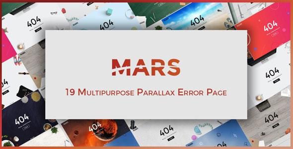 Mars | Multipurpose Parallax Error Pages - Site Templates
