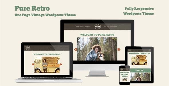 "Retro Portfolio-  ""Pure"" - One Page Vintage WordPress Theme - Personal Blog / Magazine"