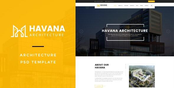 Havana : Architecture PSD Template - Creative Photoshop
