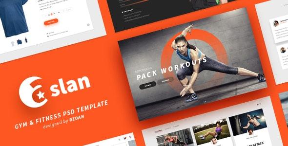 ASLAN | Gym & Fitness PSD Template - Health & Beauty Retail