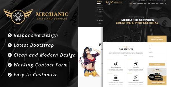 Mechanic - Car Service & Workshop Bootstrap Template