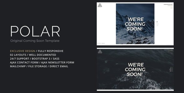 POLAR - Original Coming Soon Template - Under Construction Specialty Pages
