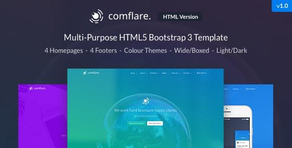 Comflare - Multi-Purpose HTML5 Template - Creative Site Templates