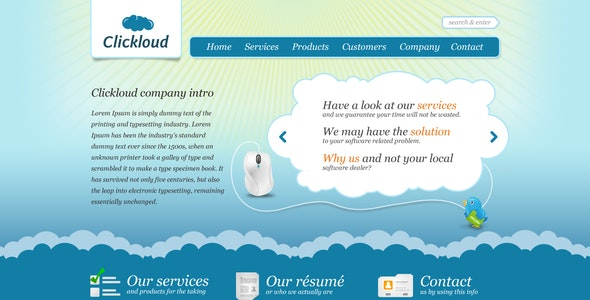 Clickloud Web 2.0 Business Template - Software Technology