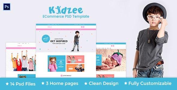 KIDZEE - eCommerce PSD Template - Shopping Retail