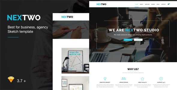 NEXTWO Business Sketch Template - Sketch Templates