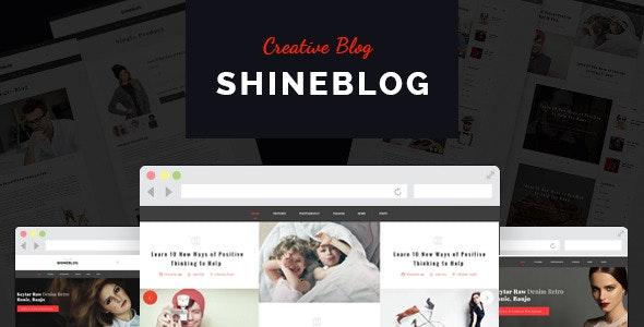 ShineBlog - Blog & e-Commerce WordPress Theme - Personal Blog / Magazine