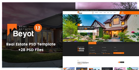 Beyot - Real Estate PSD Template - Business Corporate