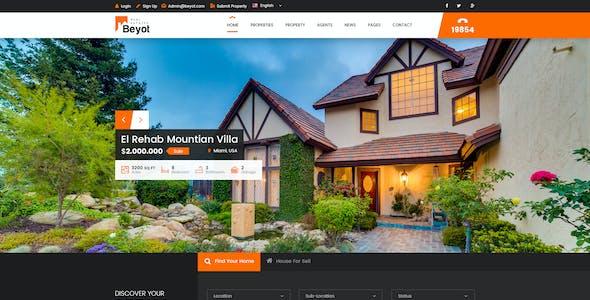 Beyot - Real Estate PSD Template