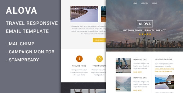 Alova - Travel Agency Responsive Email Template - Newsletters Email Templates
