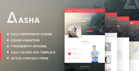 Aasha - Agency Landing Page Template - Corporate Landing Pages