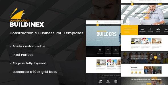 Buildinex - Construction & Business PSD Templates - Business Corporate