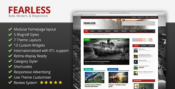 Fearless: Bold, Modern, & Responsive Multipurpose Magazine