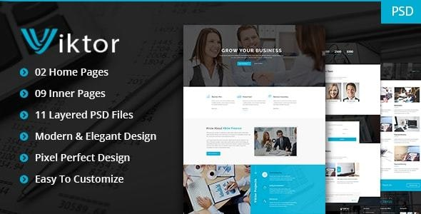 Viktor - General Purpose Business PSD Template - Corporate Photoshop