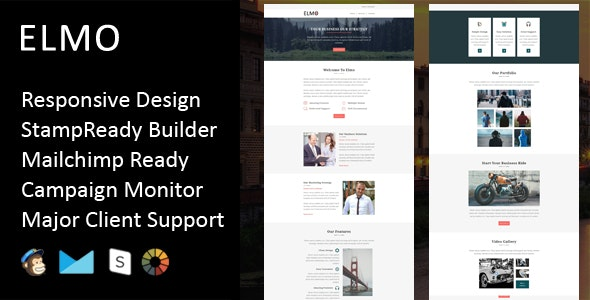 Elmo - Multipurpose Responsive Email Template + Stampready Builder - Email Templates Marketing