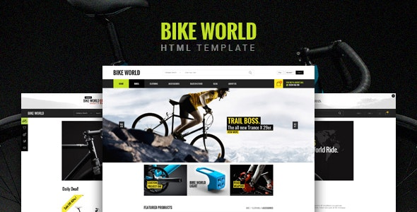 BikeWorld - Responsive HTML5 Template - Retail Site Templates