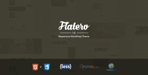 Flatero - Responsive WordPress Blog Theme - Blog / Magazine WordPress