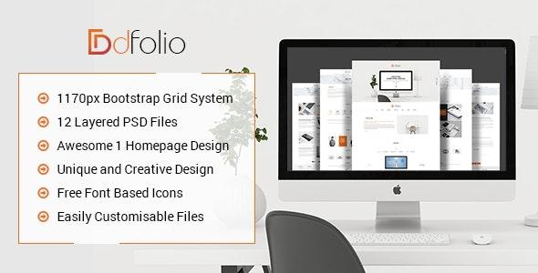 dFolio - Multi Purpose PSD Template - Portfolio Creative