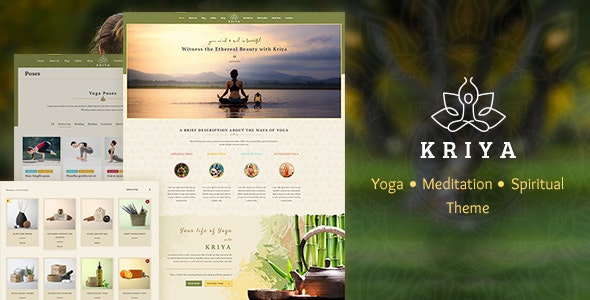 Kriya Yoga - Meditation & Health WordPress Theme - Health & Beauty Retail