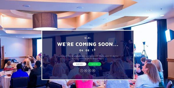 CoCo –250 + Responsive HTML Multipurpose Under Construction Coming Soon Templates