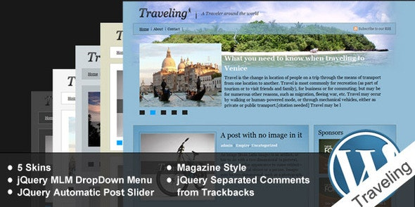 Traveling - Blog / Magazine WordPress