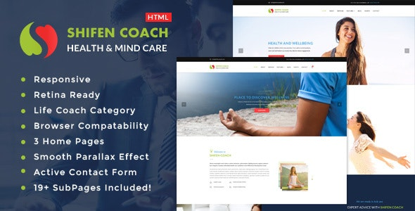 Shifen - Personal Development Coach HTML Template - Health & Beauty Retail