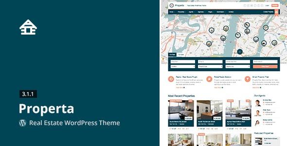 Properta - Real Estate WordPress Theme - Real Estate WordPress