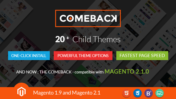 Comeback - Multi-purpose Creative Magento Themes Bundle - Magento eCommerce