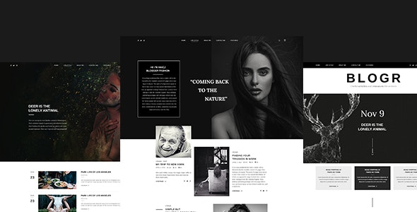 BLOGR – PSD template for Special BLOGGERS - Personal Photoshop