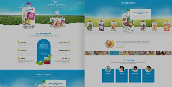Yogurd - Psd Template - Photoshop UI Templates