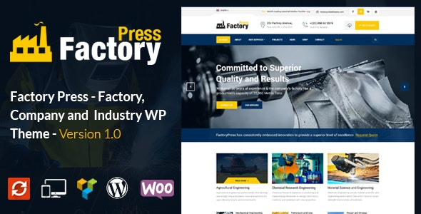 FactoryPress - Factory, Company And Industry WP Theme by