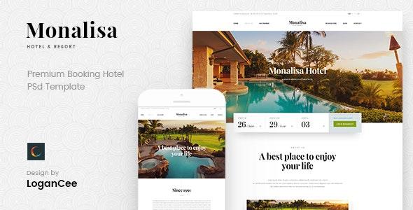 Monalisa - Premium Booking Hotel PSD Template - Travel Retail