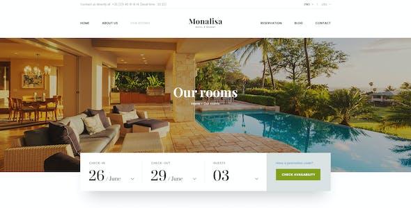 Monalisa - Premium Booking Hotel PSD Template