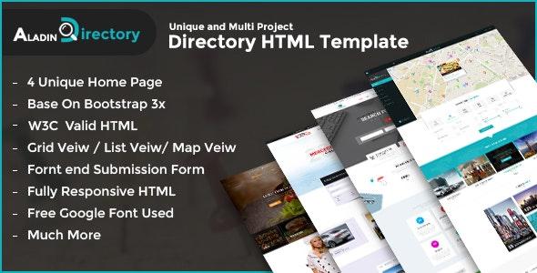 Aladin Directory HTML Template - Corporate Site Templates
