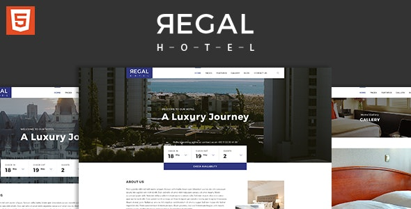 Regal - Hotel HTML5 Responsive Template - Travel Retail