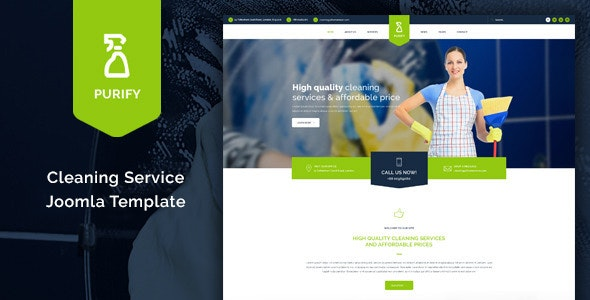 Purify - Cleaning Service Joomla Template - Business Corporate