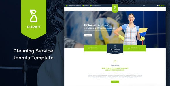 Purify - Cleaning Service Joomla Template