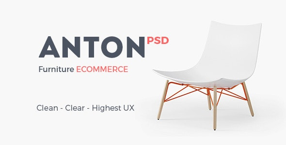 Anton Ecommerce Furniture PSD Template - Retail Photoshop